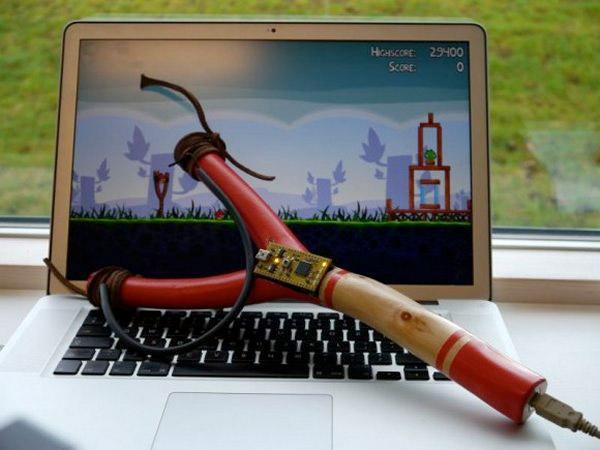 Рогатка для игры в Angry Birds