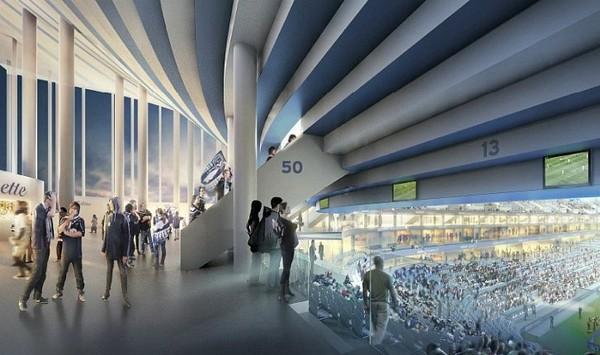 Stade de Bordeaux – солнечный стадион в Бордо для Евро-2016