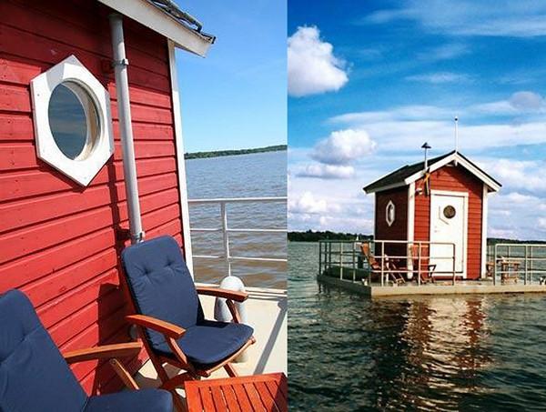 Водная романтика! Плавающий остров Utter Inn