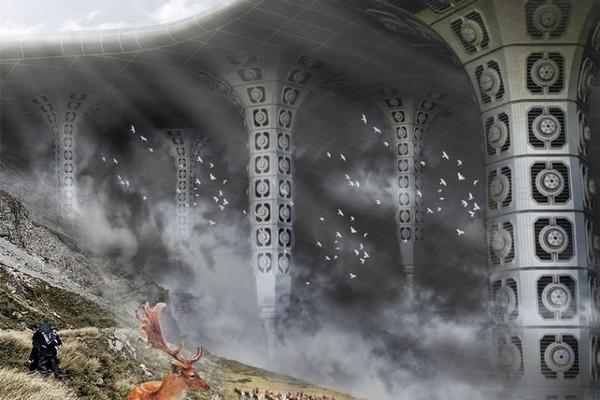 VolcanElectric Mask – небоскреб в жерле вулкана