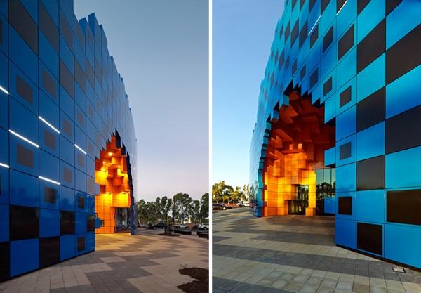 Wanangkura Stadium: пиксельный стадион в Австралийской пустыне