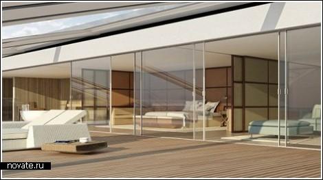 Яхта-остров для миллиардеров