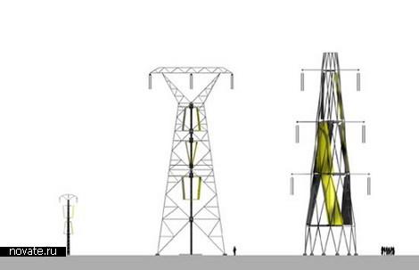 Ветряные турбины на электроопорах