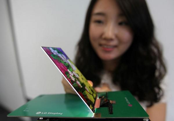 LG представил самый тонкий в мире экран для смартфона