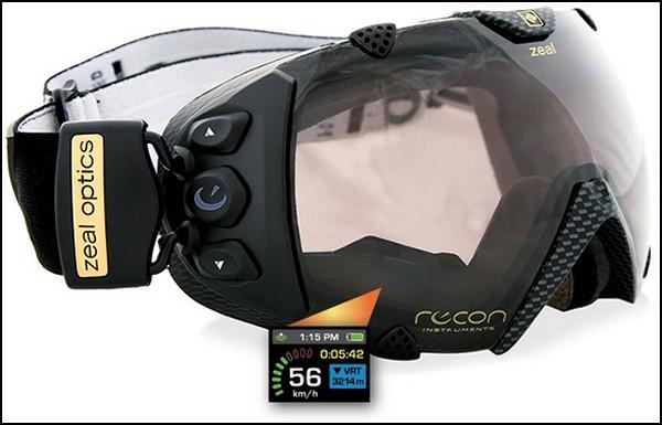 Лыжные очки с GPS