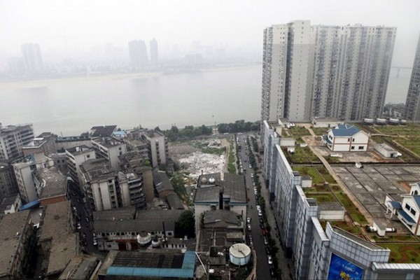 Частные коттеджи на крыше торгового центра в Чжучжоу