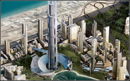 Современная архитектура. Небоскребы Nakheel Tower 1400 м