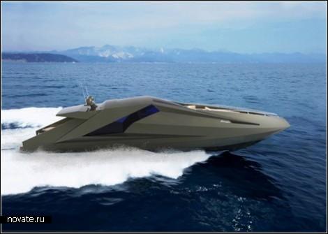 Яхта Lamborghini для тех, кто и в море любит шик
