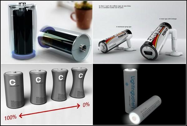 Необычные батарейки и аккумуляторы