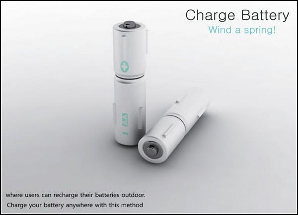 Крутящаяся батарейка