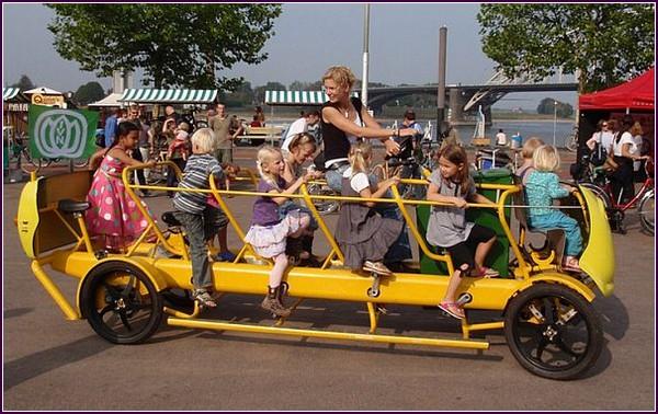 Школьный автобус Bike Bus для здоровья детей