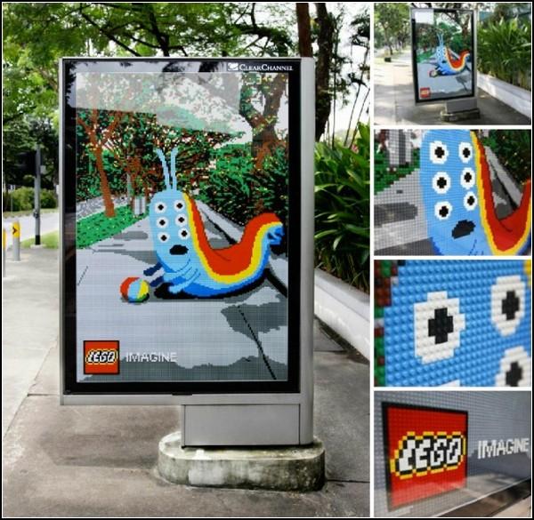 «Реальная» уличная реклама LEGO