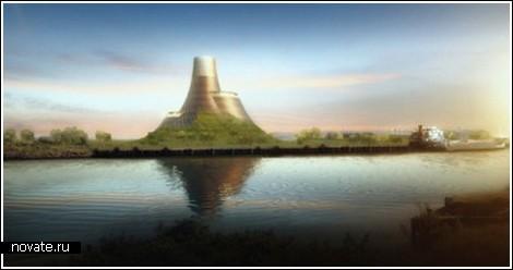 Электростанция-вулкан, работающая на биомассе