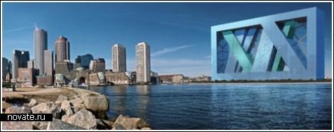 Гигантская плавающая арка в Бостоне