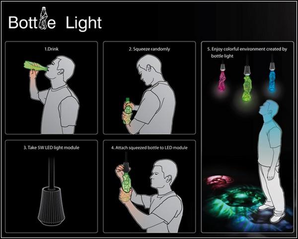 Абажур для лампы из старой пластиковой бутылки