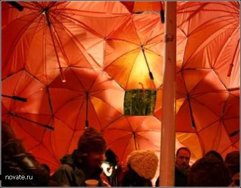 Павильон из зонтиков
