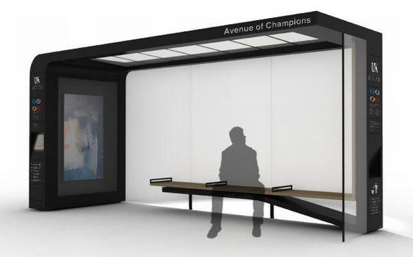 Bus Shelter System and City Furniture – остановка для любителей информации и современно <!--
