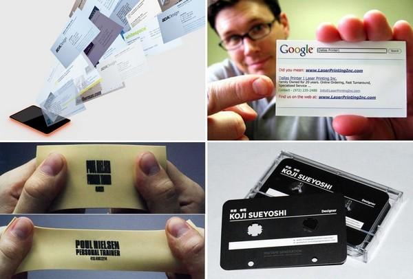 Самые необычные цифровые визитные карточки