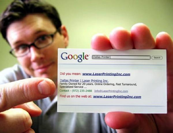 Визитная карточка в стиле Google
