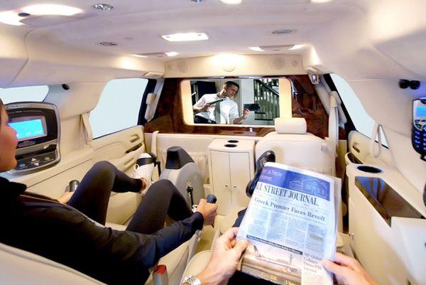 Cadillac Escalade ESV – мобильный офис с велотренажером