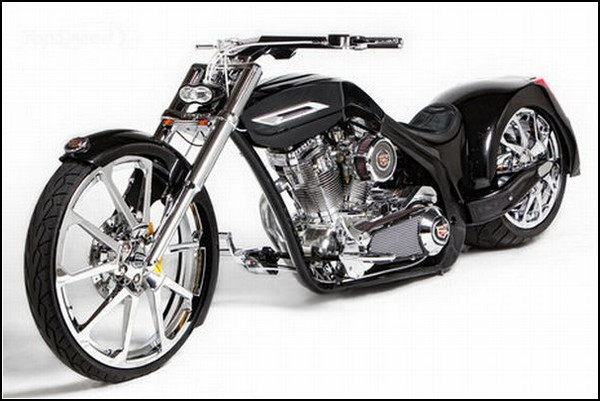 Мотоцикл-чоппер с элементами автомобиля Cadillac от Orange County Choppers