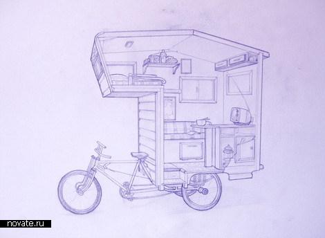чертеж велодомика