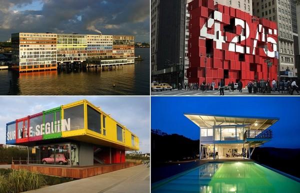 Самые удивительные в мире здания из грузовых контейнеров