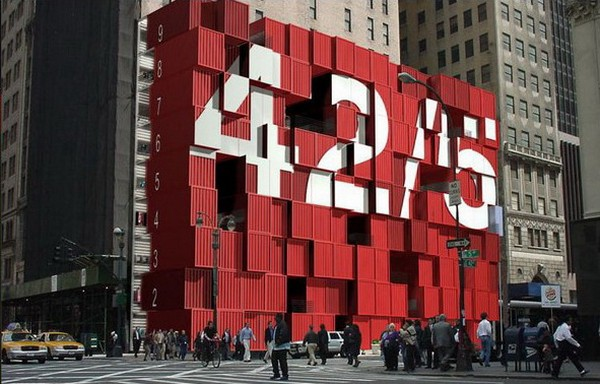 Девятиэтажный торговый центр в Нью-Йорке
