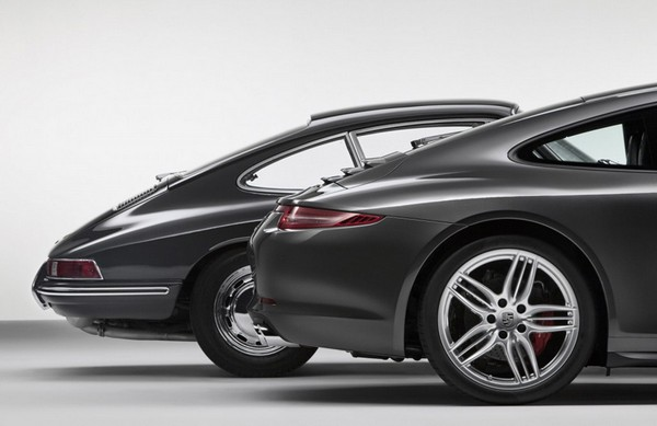 Сравнение Porsche 911 1964 и 2012 годов выпуска