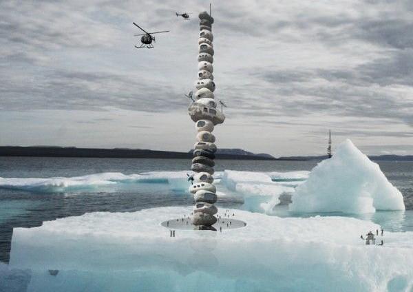 Вертикальная пещера Nunavut Tower