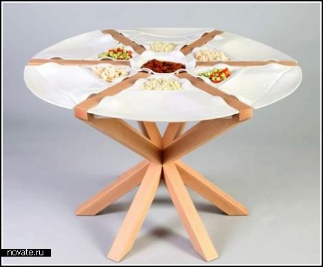 Стол-тарелка от Элада Каши (Elad Kashi)