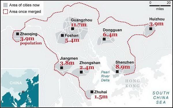 Китайский мегагород на 50 миллионов жителей