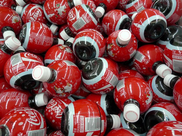 Рождественские бутылки Coca-Cola