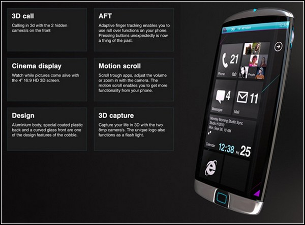 Cobble – телефон с тройным 3D
