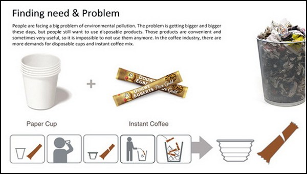 Одноразовая чашка для кофе в одноразовом пакетике Coffree