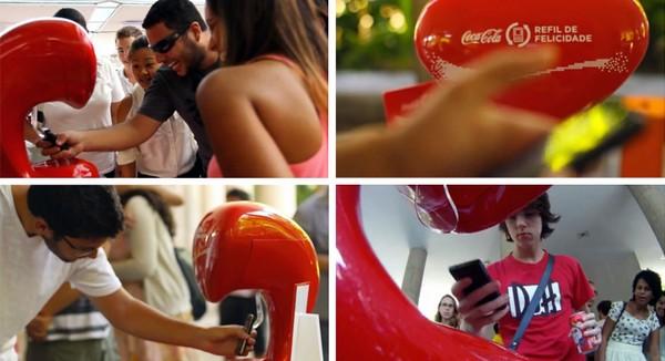 Машина мобильного счастья от Coca-Cola