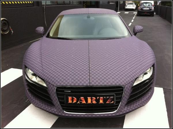 Audi R8 с тканевым покрытием