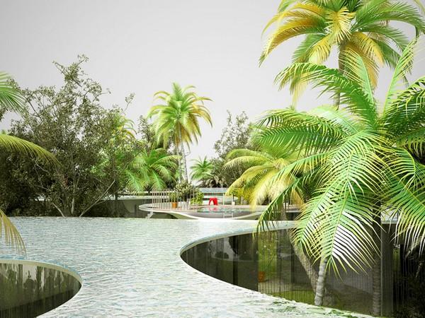 Drop Blob – дом в Майами с бассейном на крыше от NL Architects