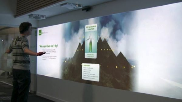 Kiwibank interactive digital wall