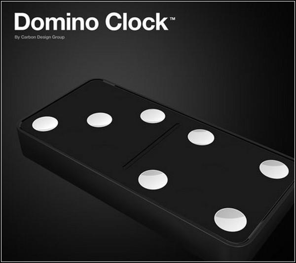 Часы из костяшек домино