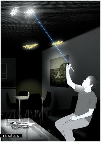 Креативный подход к освещению комнаты
