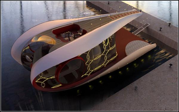 Яхта мечты Dreamboat для минималистского, но комфортного отдыха