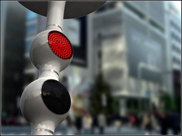 Информативный светофор Droplet Traffic Light
