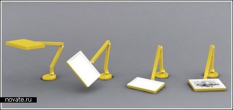 Лампа-планшет, склонная к йоге