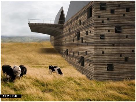 Дом-ковчег на склоне горы в Монтане