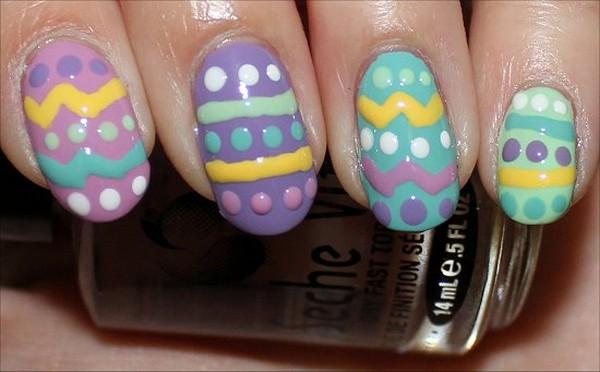 Ногти в виде пасхальных яиц