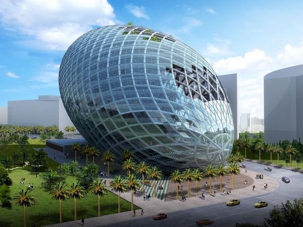 Cybertecture Egg – здание-яйцо в Мумбаи