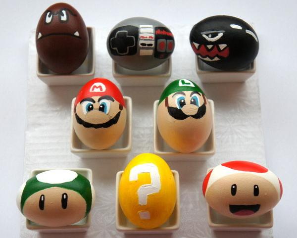 Пасхальные яйца в стиле Super Mario Bros.