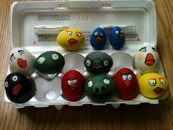 Пасхальные яйца от Angry Birds