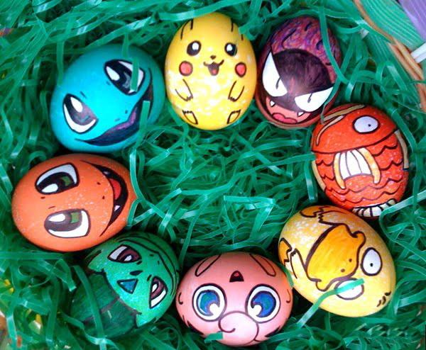 Пасхальные яйца в виде покемонов